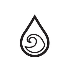 Thin line water icon vector