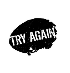 Try again rubber stamp vector