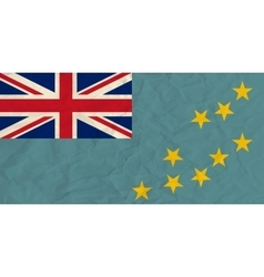 Tuvalu paper flag vector image vector image