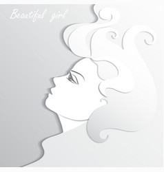 Woman profile beauty vector image vector image