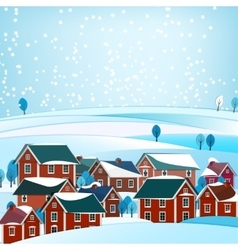02 city winter landscape vector