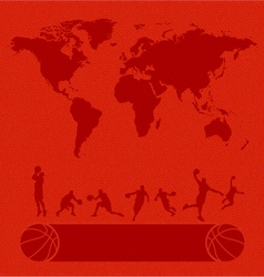Basketball set texture background vector image