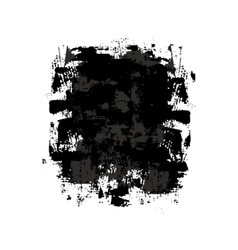 Black and gray grunge spot vector image