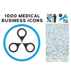 Map markers icon with 1000 medical business vector