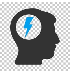 Brain electric shock icon vector