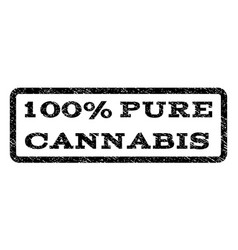 100 percent pure cannabis watermark stamp vector