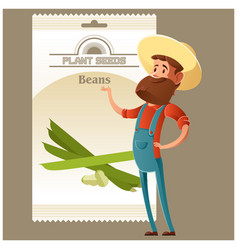 Beans seed pack vector