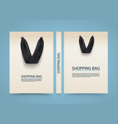paper bag cover shopping advertising banner a4 vector image