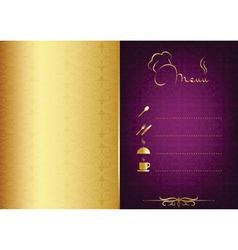 Golden - purple food menu vector image