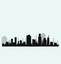 Silhouette level city vector