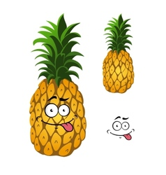Cartoon pineapple fruit vector