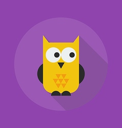 Halloween flat icon owl vector