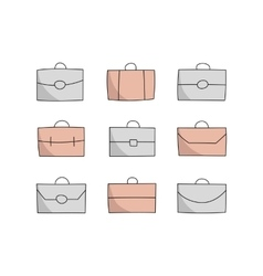 Vecor briefcase icons vector