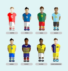 Soccer club team players set vector