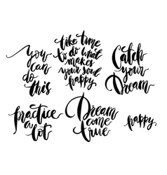 Brush calligraphy collection vector