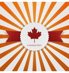 Canada day realistic paper badge vector