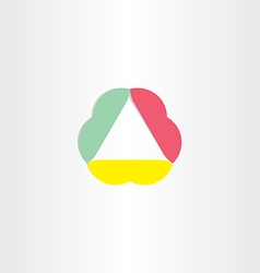 abstract business triangle icon vector image