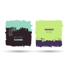 Abstract modern grunge banners vector image