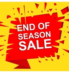 Big sale poster with end of season sale text vector