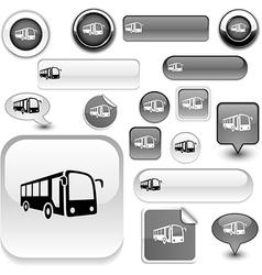 Bus signs vector image vector image