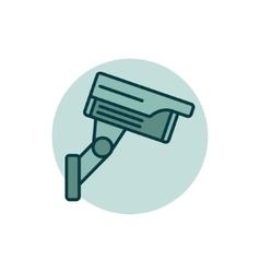 Cctv colorful icon vector