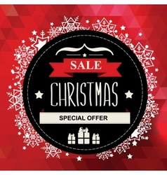 Christmas poster saletypography vector