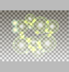 Circles on a transparent background bubbles vector