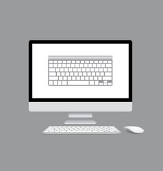 Computer display isolated vector