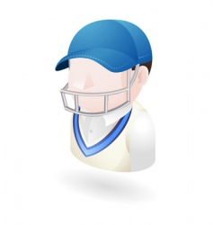 cricketer illustration vector image vector image