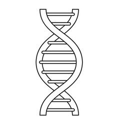 dna strand icon outline style vector image
