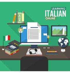 E-learning italian language vector