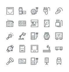 Electronic cool icons 6 vector