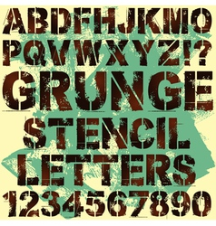 Grunge Stencil Letters vector image