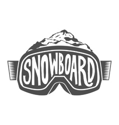 Handdrawn vintage snowboarding quotes vector image vector image
