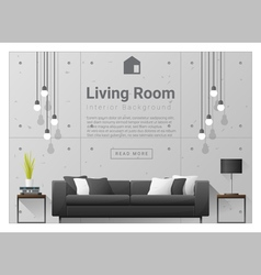 Living room Interior background 6 vector image