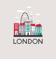 london travel background vector image