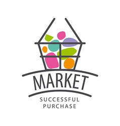 Recycle logo with the product for the market vector