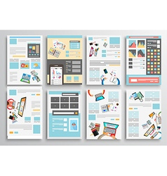 Set of flyer design web templates brochure designs vector