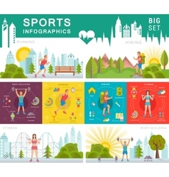 Set Sport Infographic vector image