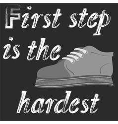 Shoes Banner with Positive Quote vector image