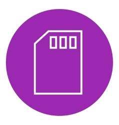 Sim card line icon vector