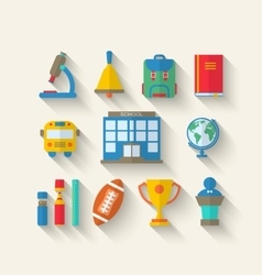 Simple Icons of Elements and Objects vector image vector image