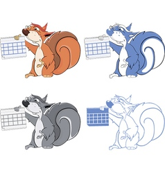 squirrel teacher cartoon vector image vector image