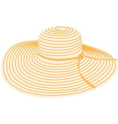 Summer hat vector image