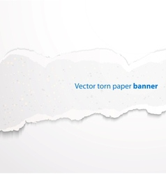 Torn paper banner vector image vector image