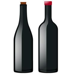 Two bottles in black color vector