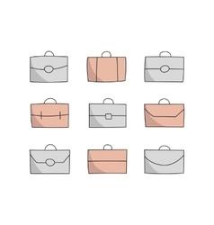 vecor briefcase icons vector image vector image