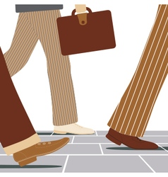 Walking businessmen vector