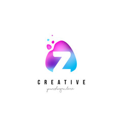 Z letter dots logo design with oval shape vector