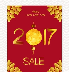 Chinese new year sale design template the year of vector